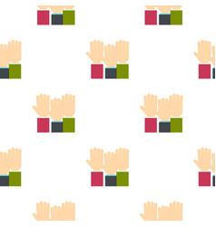 Businessmen hands up pattern flat vector
