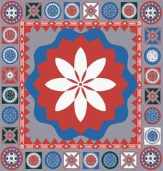Color ornamental floral motive vector image vector image