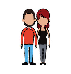 Couple holding hand relation feeling vector