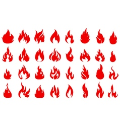 Fire icons set for you design vector image vector image