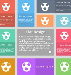 Football icon sign Set of multicolored buttons vector image