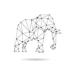 Geometric elephant design silhouette vector