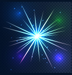 Glowing star light on transparent background vector