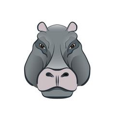 hippopotamus in cartoon style vector image vector image