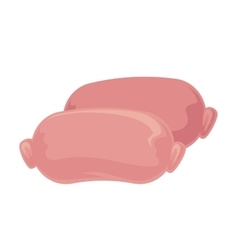 Icon of meat sausage vector