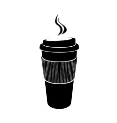 Isolated coffee plastic cup vector image