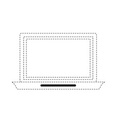 laptop open isolated vector image vector image