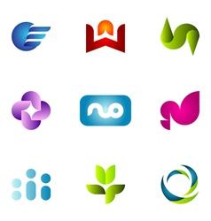 Logo design elements set 57 vector