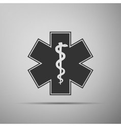 Medical symbol of the Emergency-Star of Life icon vector image