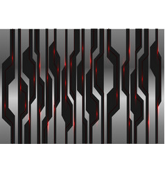 metal black futuristic red light on circuit vector image