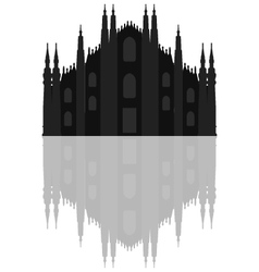 Milan cathedral vector