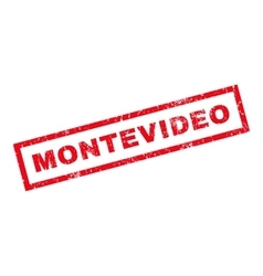 Montevideo rubber stamp vector