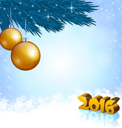New Year 2016 and X mas decoration vector image vector image