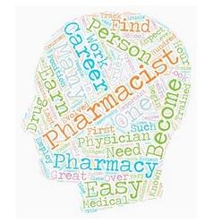 Pharmacist career an inside look text background vector