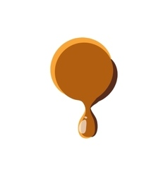 Point from caramel icon vector image