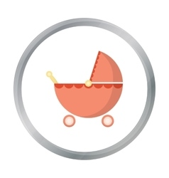 Pram cartoon icon for web and mobile vector image vector image