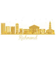 Richmond city skyline golden silhouette vector