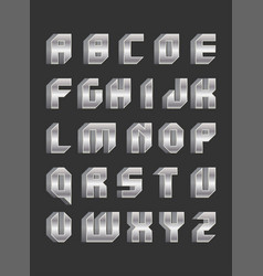 Robotic font in flat style vector