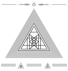 Set of geometric hipster shapes 9znkl72211 vector image