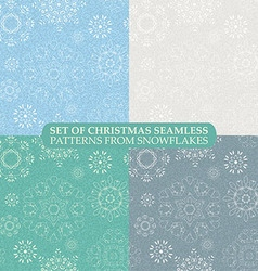 set seamless vintage pattern from snowflakes vector image vector image