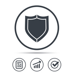 Shield protection icon defense equipment sign vector
