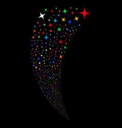 Space star random stream vector