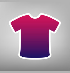 t-shirt sign purple gradient icon on vector image vector image