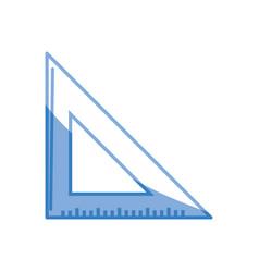 Triangle ruler tool to study vector