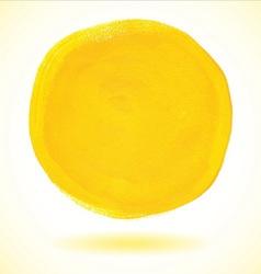 Yellow acrylic paint circle vector