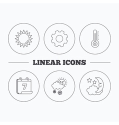 Thermometer sun and snow icons vector image