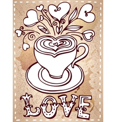 Hand drawn cup vector image