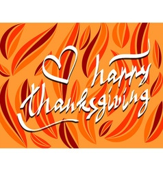 Thanksgiving day script hand lettering text vector