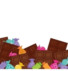 chocolate bar icon image vector image