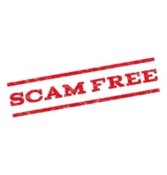 Scam free watermark stamp vector