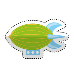 Zeppeling vehicle isolated icon vector