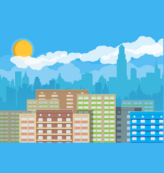 City skyline at day vector