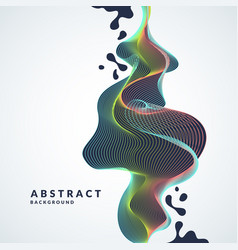 Abstract background with a dynamic waves lines vector
