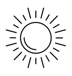 Sun silhouette isolated icon vector