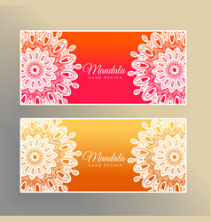 Colorful mandala banners decoration background vector