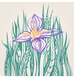 Decorative drawing of a flower vector