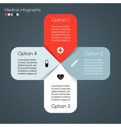 Modern template for your medical project vector
