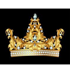 Royal gold crown vector