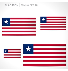 Liberia flag template vector