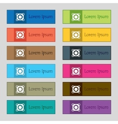 Speaker volume sign icon sound symbol set colour vector