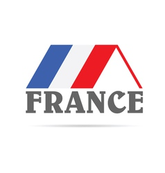 House with flag of france vector