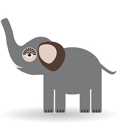 Funny elephant on a white background vector