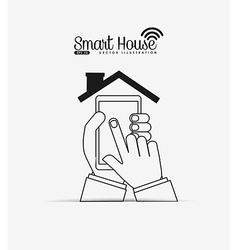 Smart house design vector