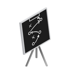 Tactic strategy sketched on a blackboard icon vector image