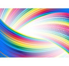 Abstract rainbow birthday banner vector