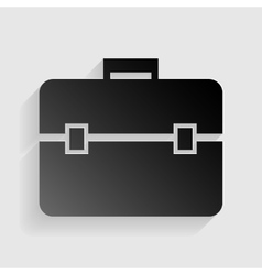 Briefcase sign  black paper with vector